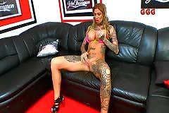 Calisi Ink aka Nathalie HardCor(e) Dildo Masturbation Casting