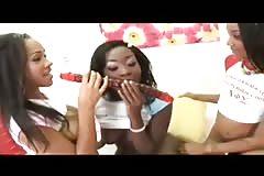 Three Ebony Lesbians Fuck Each Other