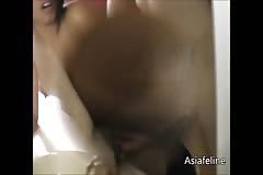 Hot fucking a beautiful Asian and facial cumshot