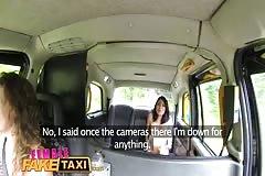 FemaleFakeTaxi American minx fucks for taxi cam