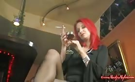 Smoking High Heels & Nylon Foot Fetish