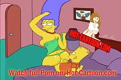 Simpsons Porn #3 Bart and Marge have fun / Cartoon Porn HD