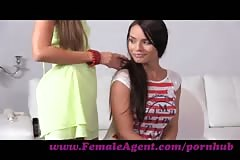 FemaleAgent. Multiple orgasms in perfect lesbian casting