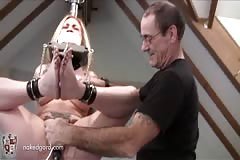 Tape Gagged bondage & Dildo Fucked