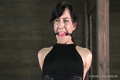 Elise Graves Teased with Vibrator in Stressful Bondage