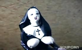 Crazy fetish nun costume - Absurdum Productions